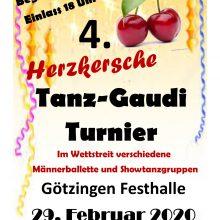 29. Februar 2020 – 4. Herzkersche Tanz Gaudi Turnier